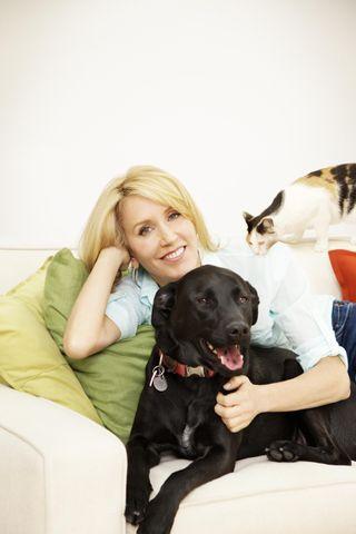 Felicty Huffman, Tucker and Cat