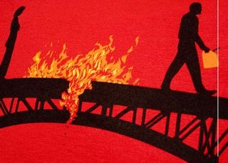 Burnt-bridge