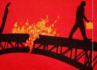 Burnt-bridge