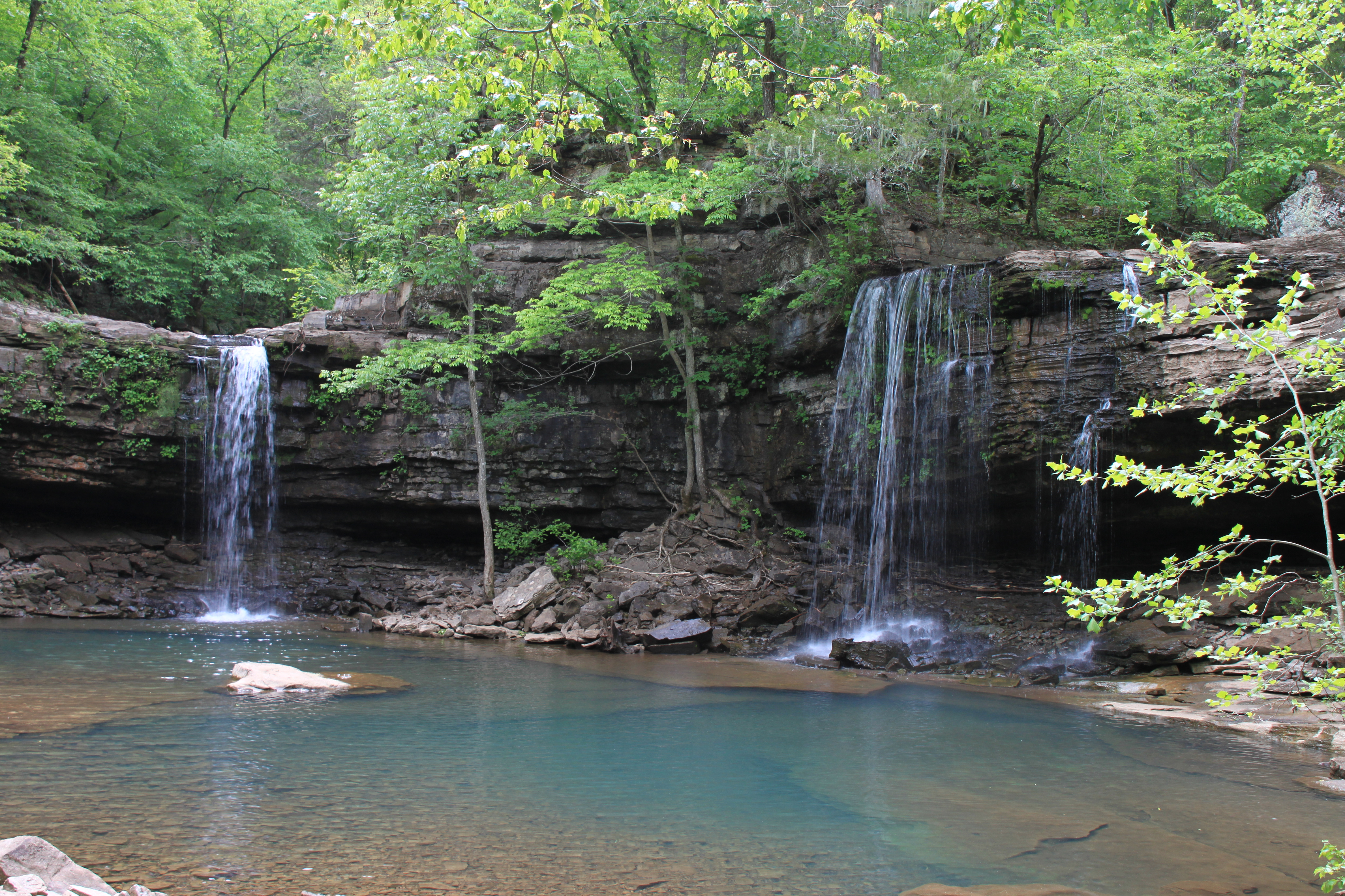 Triple Falls Aka Twin C Orr Boy Scout Along Buffalo River