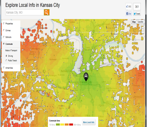 KC Communiting Heat Map