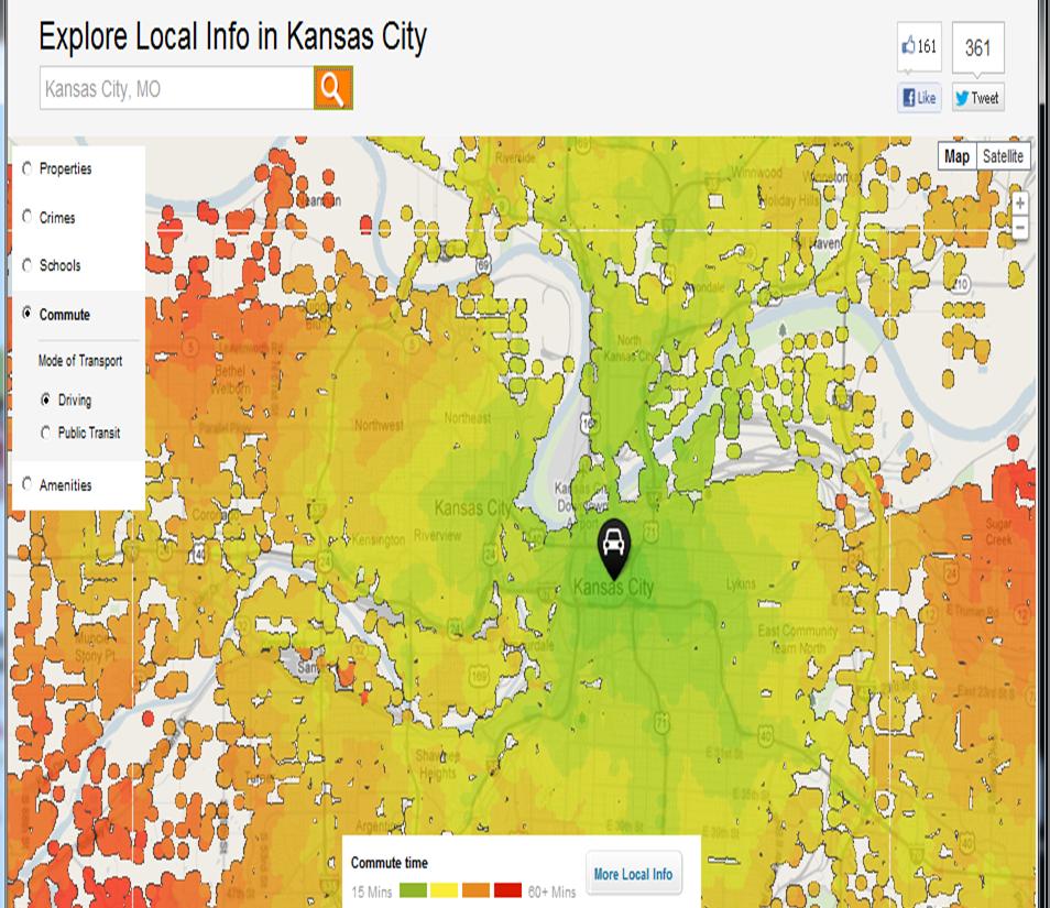 Toellner Tells it: Kansas City Commuting Heat Map