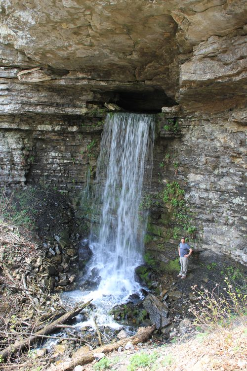 Burr Oak Woods, Big Creek Cave Falls, Fern Falls 077