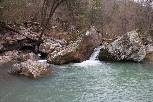 Burr Oak Woods, Big Creek Cave Falls, Fern Falls 107