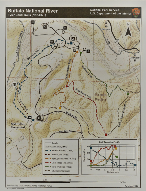 Tyler Bend Map